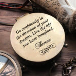 Personalized Compass - Custom Engraved Compass, Gift for Groom from Bride on Wedding Day - Wedding gift - Engagement Gift - Wedding Keepsake 4