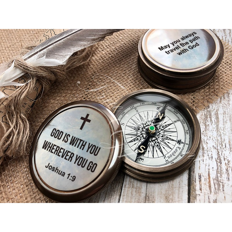 Personalized Compass - Gift for Groom from Bride on Wedding day - Gift for husband - Wedding Gift - Anniversary - Engagement Gift - Compass 23
