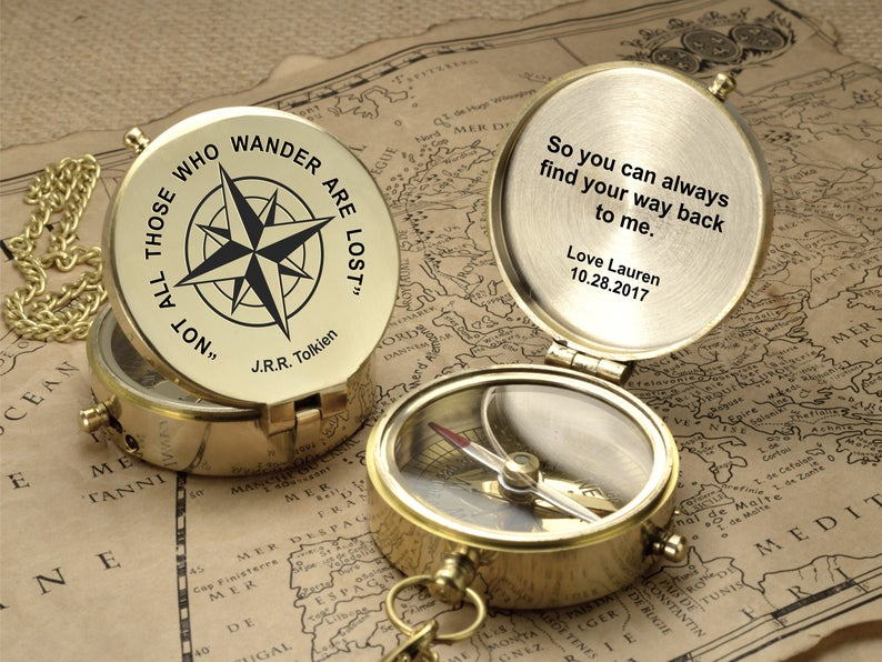 Personalized Compass - Engraved Compass - Baby Shower Gift - Newborn Baby - Christening - First Holy Communion - Baptism - Baby Baptism Gift 11