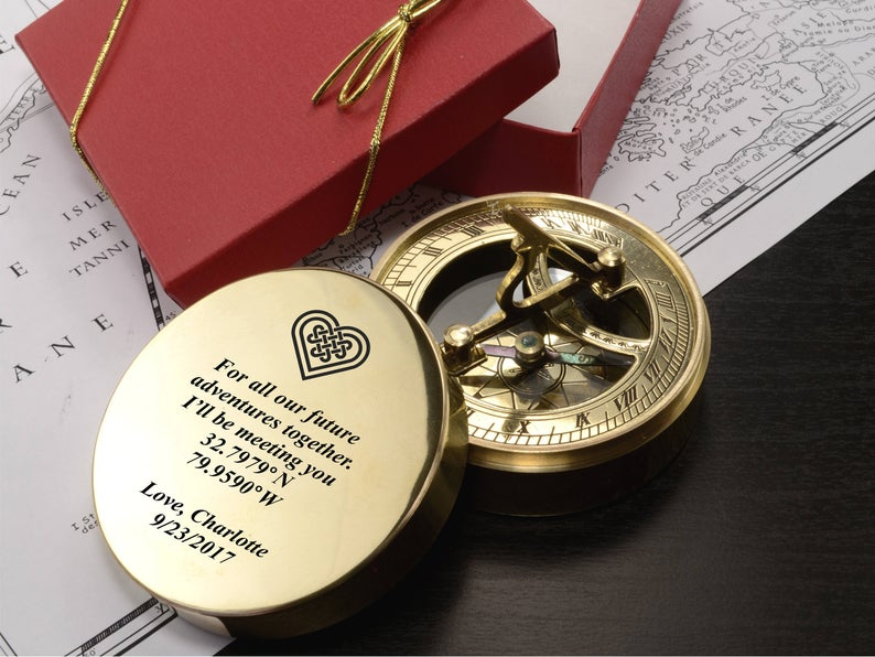 Engraved Compass - Personalized Baptism Gift, First Communion Gift, Confirmation Gift, Christmas Gift, Compass, Custom Engraved Baptism Gift 7