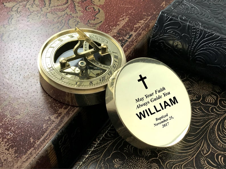 Engraved Compass - Personalized Baptism Gift, First Communion Gift, Confirmation Gift, Christmas Gift, Compass, Custom Engraved Baptism Gift 6