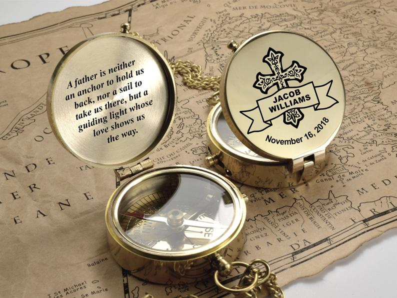 Compass - First Communion Gift for Godchild - Gift from Godmother - Baptism, Confirmation Boy Gift, Baptism Gift for Goddaughter, Christmas 7