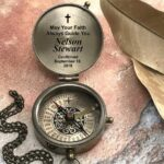 Compass, Christmas Gift, Godchild Gift, Goddaughter Gift, Godson Gift, Gift from Godparent, Personalized compass, First Holy Communion Gift 4