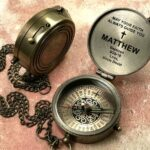 Personalized Compass - Baptism Baby Gift - First Holy Communion Gift, Christmas gift, Christening Gift, Godchild Gift, Baptism Godchild Gift 2