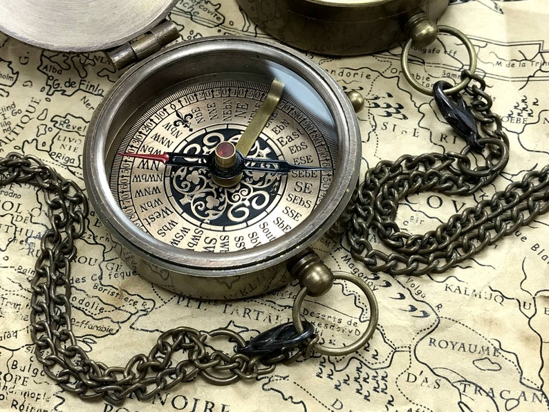 Personalized Compass - Custom Engraved Compass - Wedding Gift - Wedding Anniversary Gift - Working Compass - Christmas gift - Corporate Gift 13