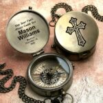Compass - Personalized Compass - Baptism Gift, Confirmation Gift, First Holy Communion Gift, Godchild Gift, Baptism Gift for Baby 4