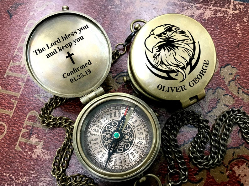 Personalized Compass - Custom Engraved Compass - Wedding Gift - Wedding Anniversary Gift - Working Compass - Christmas gift - Corporate Gift 17