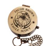 Personalized Eagle Scout, Boy Scout, Cub Scout Leader, Engraved Working Compass, Custom Engraved Compass, Handmade Brass Compass Custom gift 4