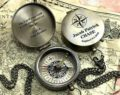 Personalized Compass - Custom Engraved Compass - Wedding Gift - Wedding Anniversary Gift - Working Compass - Christmas gift - Corporate Gift 24