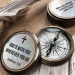 Compass - baptism gift - personalized compass - fathers day gift - baptism compass - engraved compass - confirmation gift - groomsmen gift 4