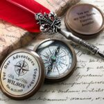 Personalized Compass - Gift for Groom from Bride on Wedding day - Gift for husband - Wedding Gift - Anniversary - Engagement Gift - Compass 2