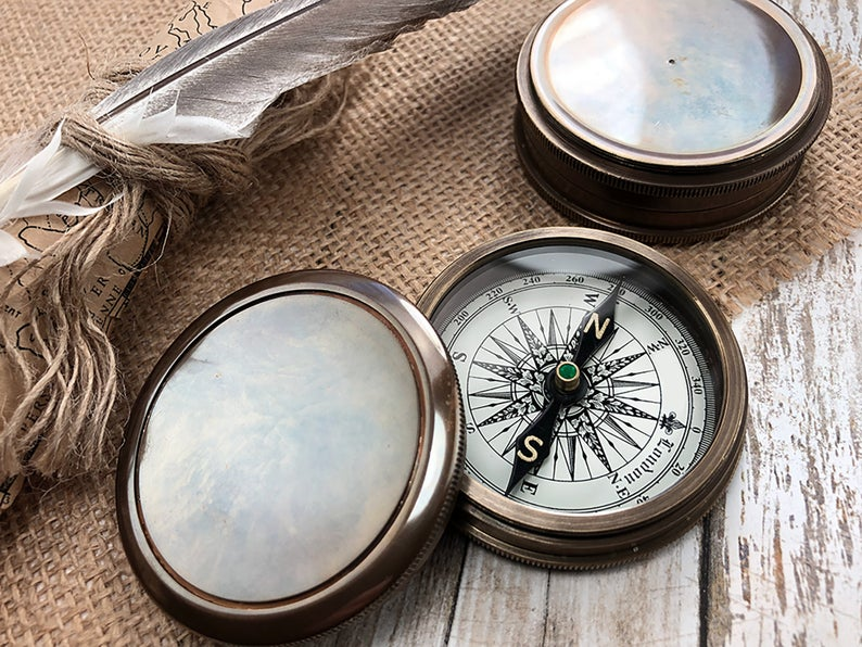 Personalized Compass - Gift for Groom from Bride on Wedding day - Gift for husband - Wedding Gift - Anniversary - Engagement Gift - Compass 13