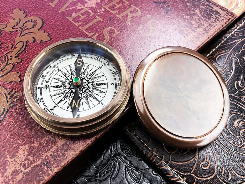 Personalized Compass, Custom Engraved Compass, Engagement, Wedding, Anniversary Gift, Working Compass, Boyfriend Gift, Unique Wedding Gift 17