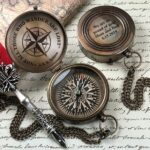 Personalized Compass - Engraved Compass - Gift for Groom - Working Compass - Anniversary - Fathers Day - Wedding - Engagement - Gift 2