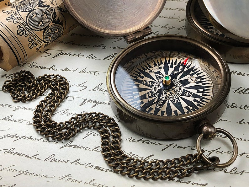 Personalized Compass - Engraved Compass - Gift for Groom - Working Compass - Anniversary - Fathers Day - Wedding - Engagement - Gift 19