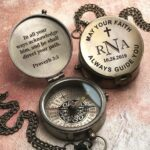 Personalized Compass, Baptism Gift, Confirmation Gift, First Holy Communion Gift, Godchild Gift, Baptism Gift for Baby, First Christmas Gift 2