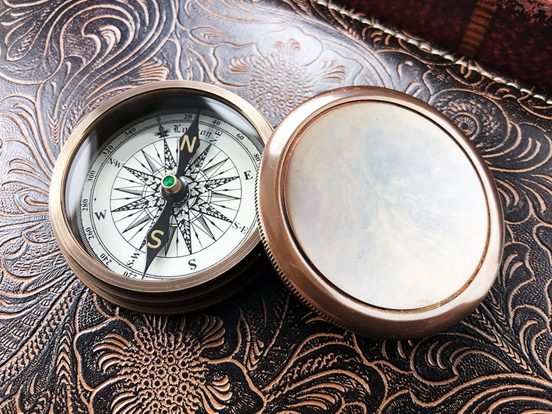 Personalized Compass - Gift for Groom from Bride on Wedding day - Gift for husband - Wedding Gift - Anniversary - Engagement Gift - Compass 7