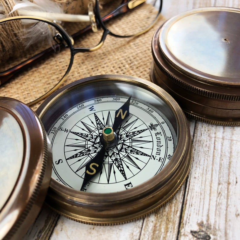 Personalized Compass - Gift for Groom from Bride on Wedding day - Gift for husband - Wedding Gift - Anniversary - Engagement Gift - Compass 5