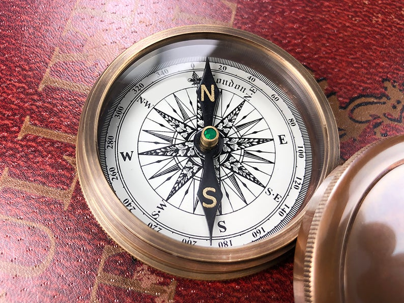 Personalized Baptism Gift for a Boy or Girl Unique Religious Gift, Baby Christening Keepsake from Godmother or Godfather, Engraved Compass 9