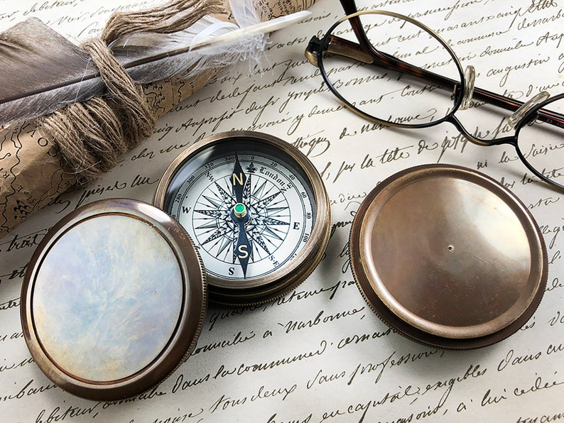 Personalized Compass, Custom Engraved Compass, Engagement, Wedding, Anniversary Gift, Working Compass, Boyfriend Gift, Unique Wedding Gift 23