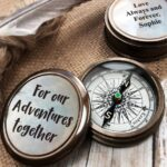 Personalized Pocket Compass Inspirational Quotes Engraved on a Brass Compass Gift for Graduation Anniversary Baptism Retirement Christmas 4