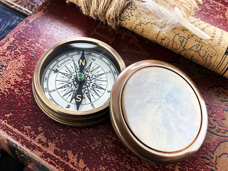 Personalized Pocket Compass Inspirational Quotes Engraved on a Brass Compass Gift for Graduation Anniversary Baptism Retirement Christmas 9