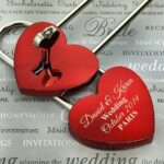 Personalized Love Lock - Red Heart Lock with Key - Personalized Heart Love Padlock - Engraved Love Lock - Engagement Gift 4