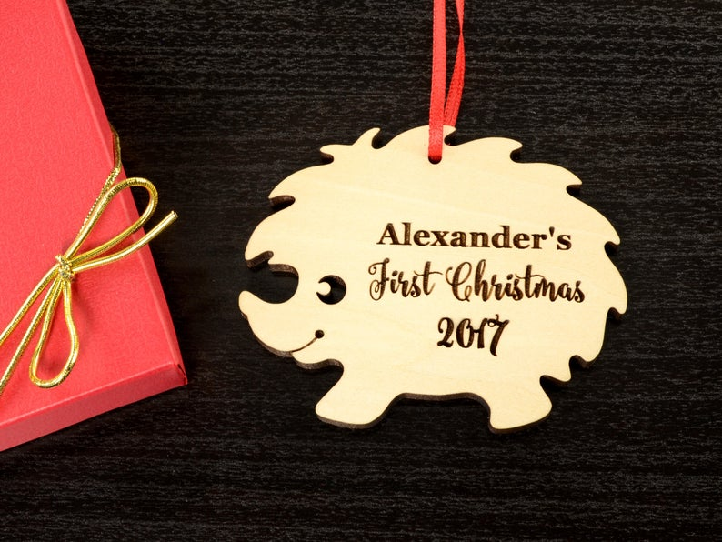Personalized Baby's First Christmas Ornament, Christmas Baby Keepsake, Baby's 1st Christmas Ornament, New Parent Christmas Ornament 7
