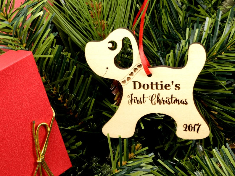 Personalized Dog Christmas Ornament with Name - Christmas Gift for Dog Lovers, Dog Gift, Pet Gift, Custom Ornament, Christmas Dog Ornament 9