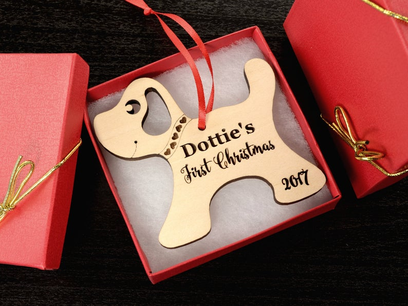 Personalized Dog Christmas Ornament with Name - Christmas Gift for Dog Lovers, Dog Gift, Pet Gift, Custom Ornament, Christmas Dog Ornament 11