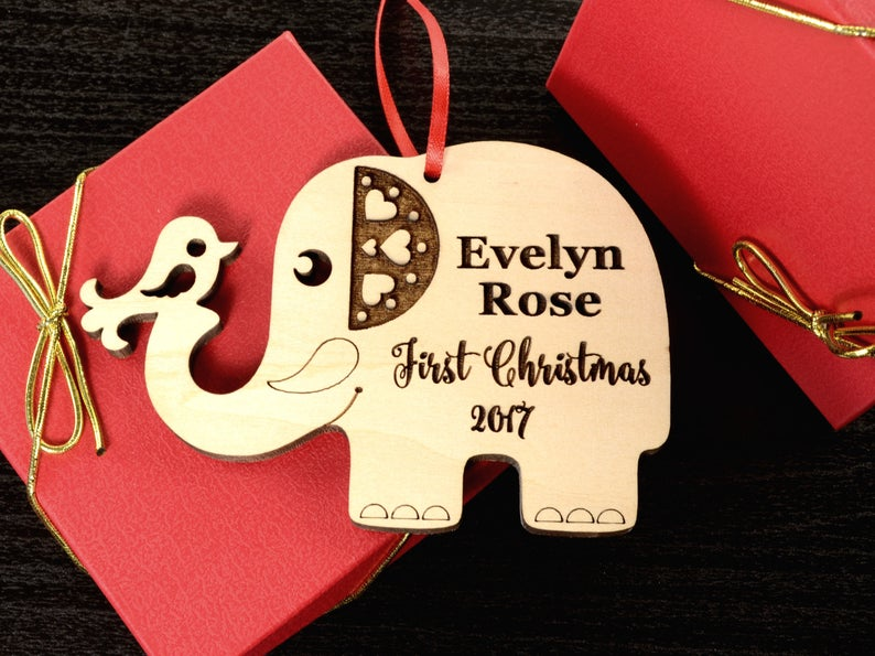 First Christmas Baby Ornament | First Christmas Baby Keepsake | Christmas Ornament Baby | New Parent Christmas Ornament | Baby Ornament Gift 5
