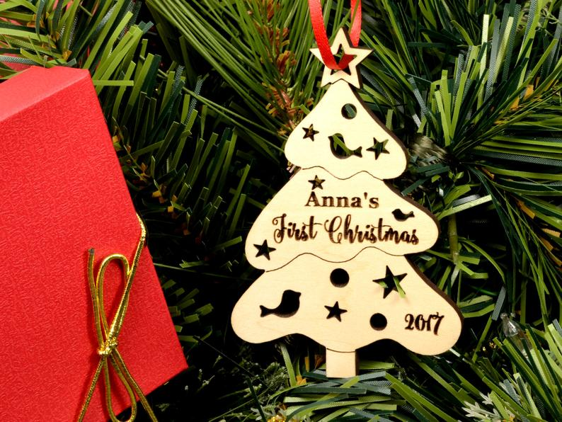 Christmas Ornament Personalized Christmas Ornament, Christmas Tree Baby Gift, Baby First Christmas Ornament, Baby's First Christmas Ornament 7