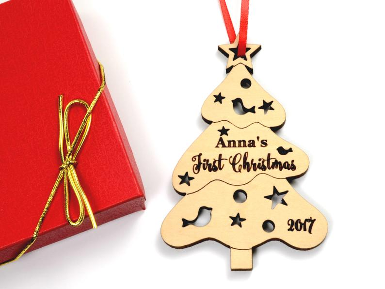 Christmas Ornament Personalized Christmas Ornament, Christmas Tree Baby Gift, Baby First Christmas Ornament, Baby's First Christmas Ornament 9