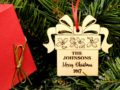 Christmas Ornaments Personalized Wedding Ornament Personalized Wedding Gifts for Couple First Christmas Ornament Married Newlywed Ornament 10