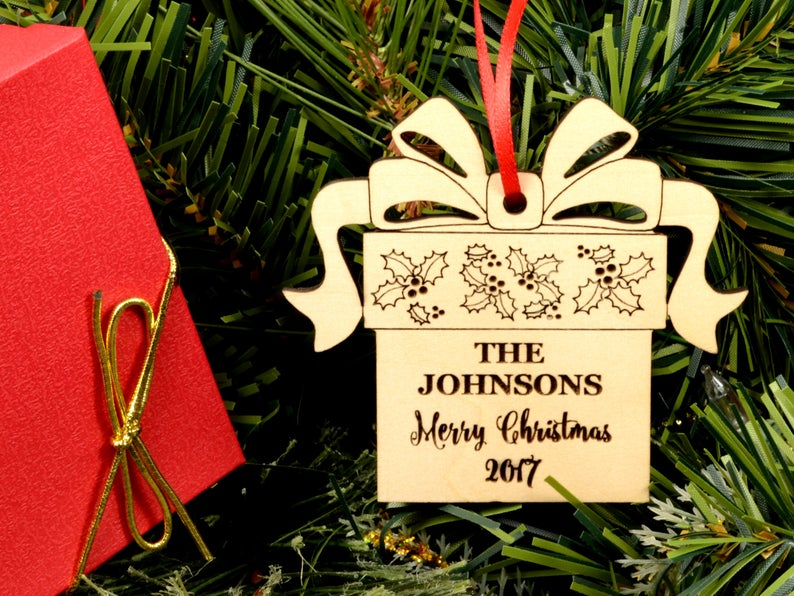 Christmas Ornaments Personalized Wedding Ornament Personalized Wedding Gifts for Couple First Christmas Ornament Married Newlywed Ornament 9