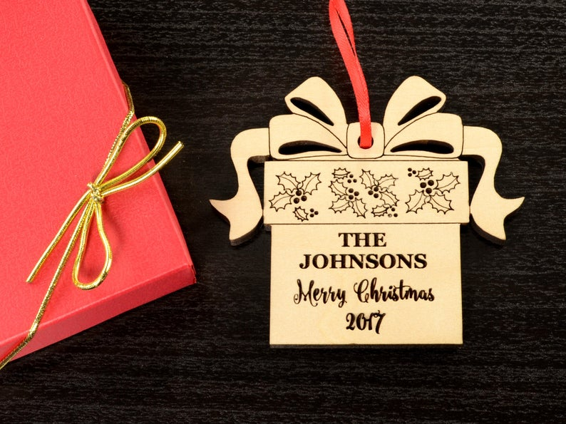 Christmas Ornaments Personalized Wedding Ornament Personalized Wedding Gifts for Couple First Christmas Ornament Married Newlywed Ornament 11