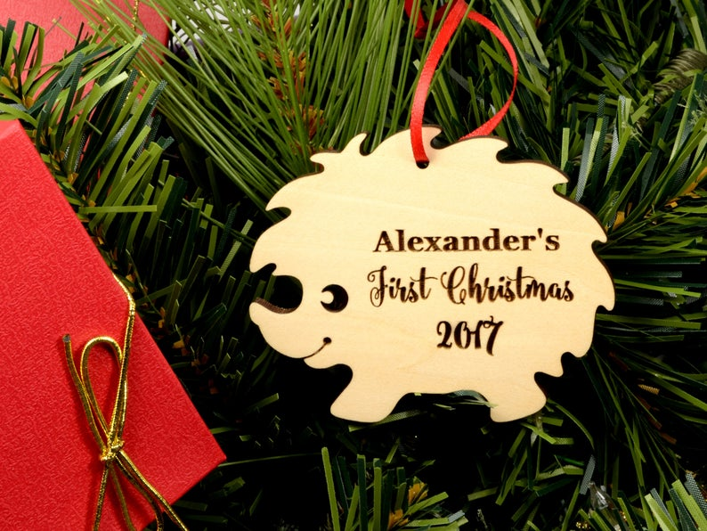 Personalized Baby's First Christmas Ornament, Christmas Baby Keepsake, Baby's 1st Christmas Ornament, New Parent Christmas Ornament 11
