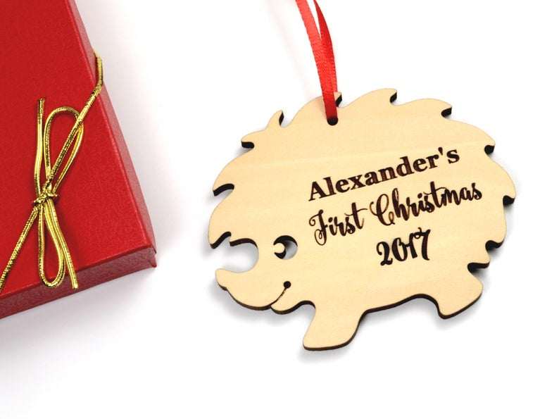Personalized Baby's First Christmas Ornament, Christmas Baby Keepsake, Baby's 1st Christmas Ornament, New Parent Christmas Ornament 15