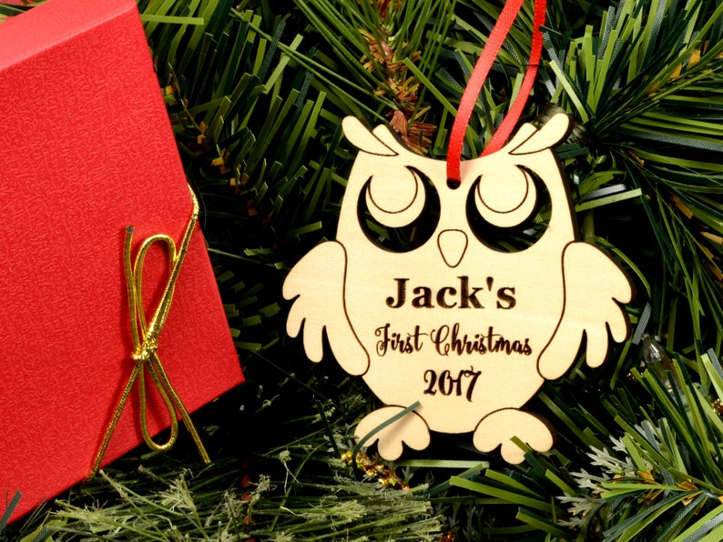 Personalized Baby's First Christmas Ornament, Baby First Ornament, Personalized Christmas Ornament, New Baby Gift, Baby's First Christmas 9