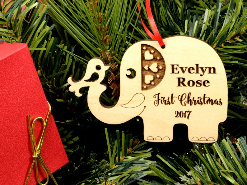 First Christmas Baby Ornament | First Christmas Baby Keepsake | Christmas Ornament Baby | New Parent Christmas Ornament | Baby Ornament Gift 9