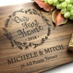 Cutting Board Personalized - Engagement Gift - Wedding Gift for the Couple, Housewarming Gift, Our First Home Gift, Cheese Board 2