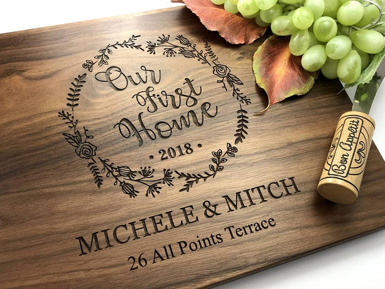 Cutting Board Personalized - Engagement Gift - Wedding Gift for the Couple, Housewarming Gift, Our First Home Gift, Cheese Board 6