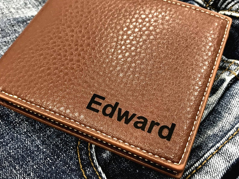 Personalized Men's Wallet - Anniversary Gift - Husband Gift, Men's Gift - Wallet for Men - Gift for Husband - Wedding Gift 15