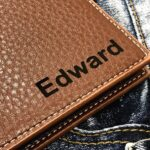 Personalized Men's Wallet - Anniversary Gift - Husband Gift, Men's Gift - Wallet for Men - Gift for Husband - Wedding Gift 2