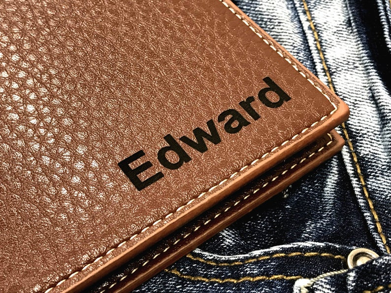 Personalized Men's Wallet - Anniversary Gift - Husband Gift, Men's Gift - Wallet for Men - Gift for Husband - Wedding Gift 6