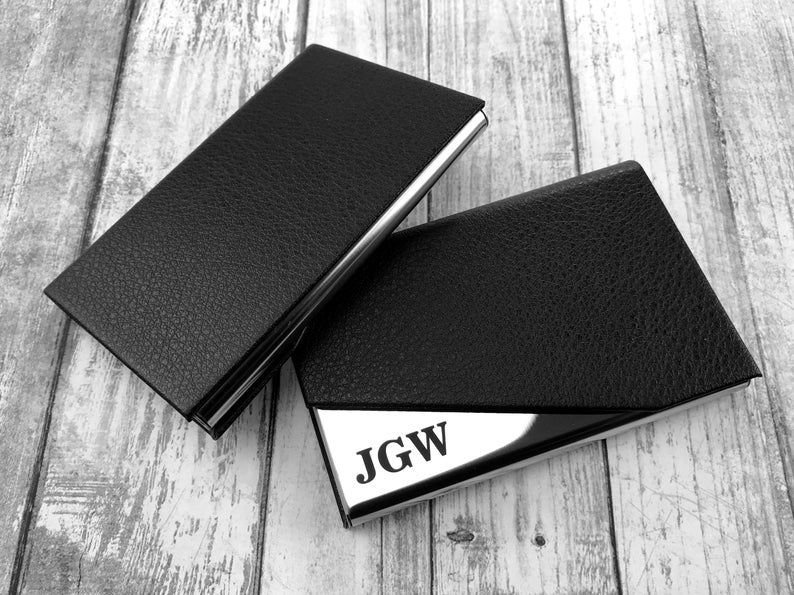 Personalized Cardholder - Business Card Case - Business Cardholder for Desk, Credit Cardholder, Credit Card Wallet, Gift for Boyfriend, Gift 7