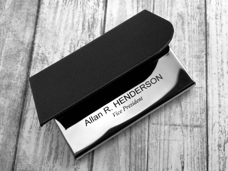 Personalized Business Card Holder - Business Card Case - Credit Card Holder - Groomsman Gift - Corporate Gift 5