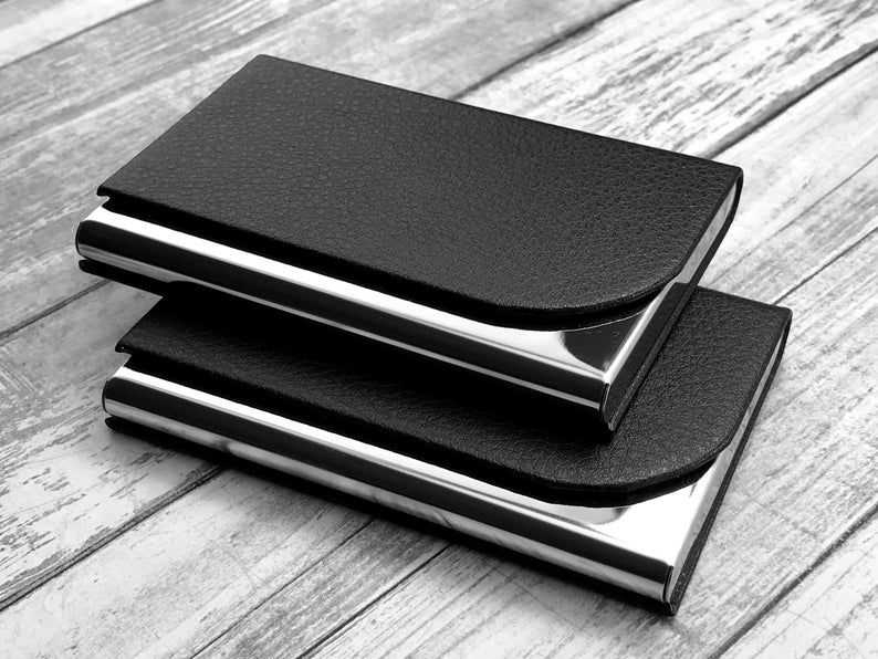 Personalized Business Card Holder - Business Card Case - Credit Card Holder - Groomsman Gift - Corporate Gift 7