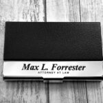 Business Cardholder - Personalized - Engraved Leather Business Card Case - Business Cardholder - Credit Card Holder - Credit Card Wallet 4