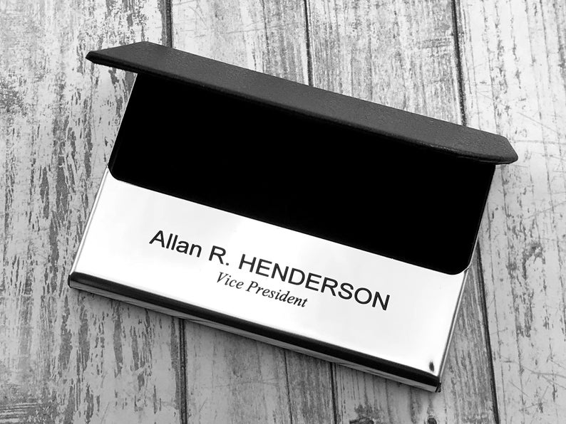 Personalized Business Card Holder - Business Card Case - Credit Card Holder - Groomsman Gift - Corporate Gift 15